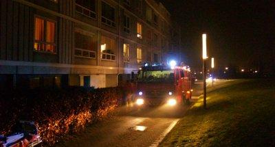 Brand i affaldscontainer. Foto: Freelancefotografen.dk