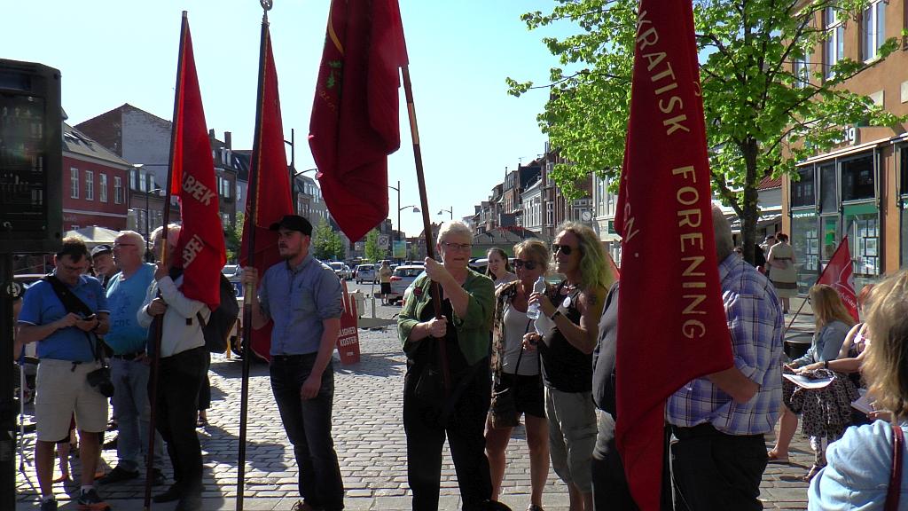 Sådan så det ud, da Velfærdsalliancen demonstrede tidligere på året. Arkivfoto: Rolf Larsen.