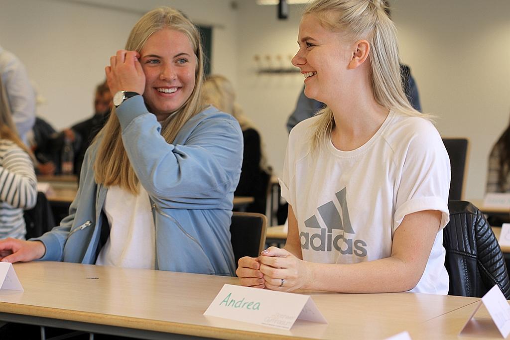 Første dag på Slotshaven Gymnasium for de nye elever.