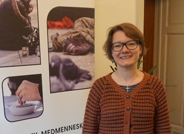 Anne Katrhine Clausen er ny korshærspræst. Foto: Kirkens Korshær.