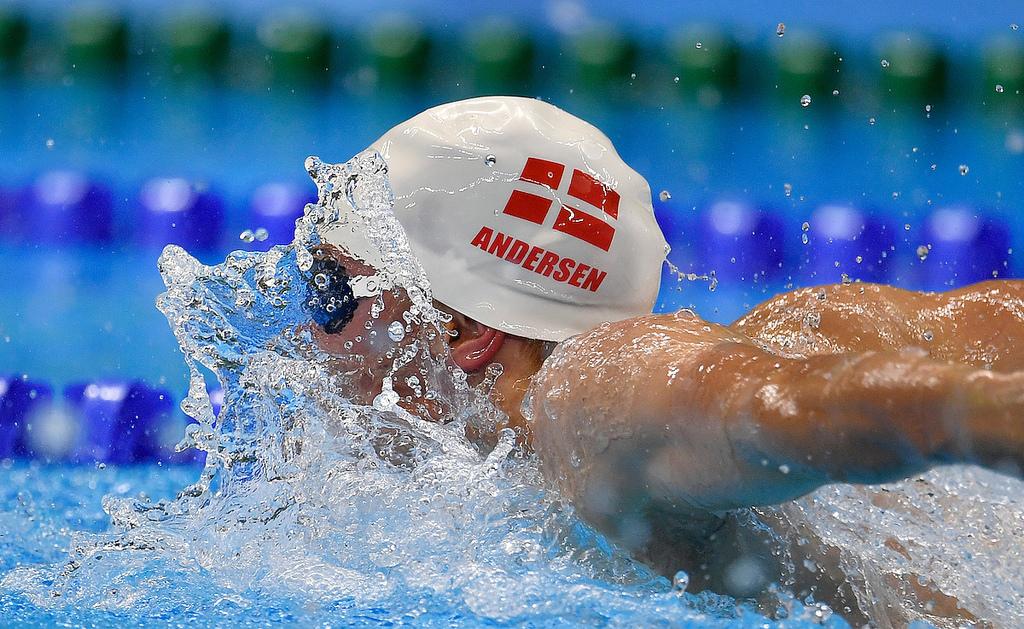 Heller ingen finaleplads ved tirsdagens 100 m fri svømmekonkurrence. Foto: Lars Møller.
