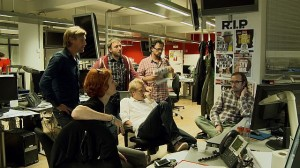 Der arbejdes på at få den helt rigtige forside om Lars Løkke Rasmussens bilagsag. Foto: Mikala Krogh.
