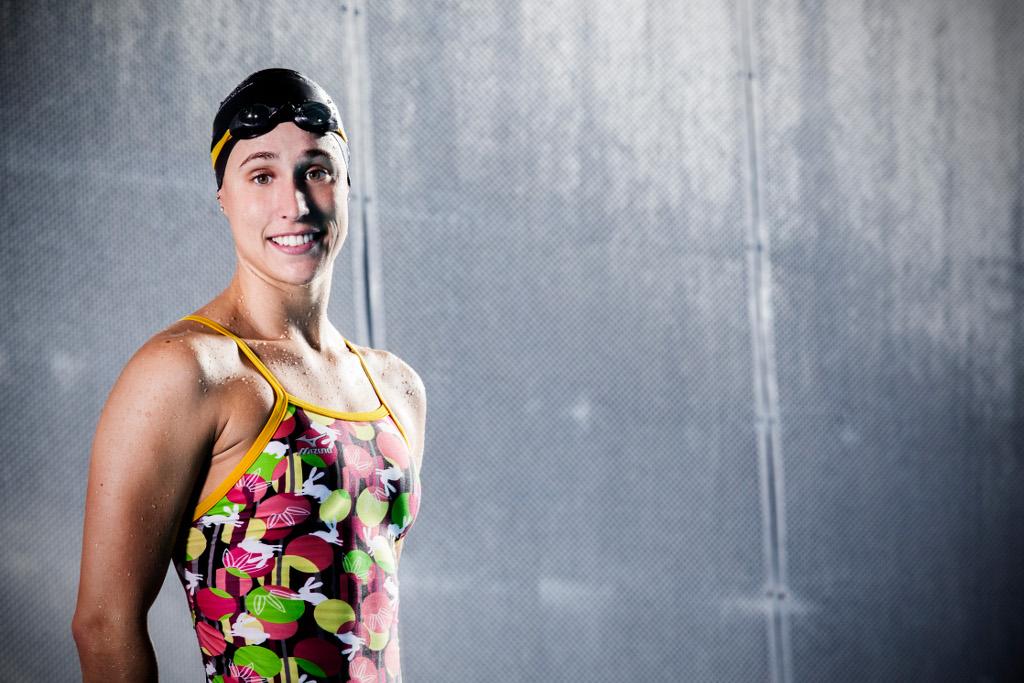 Rikke Møller Pedesen fra Holbæk Svømmeklub vandt guld ved EM i 200 meter brystsvømning. Foto: Team Danmark.