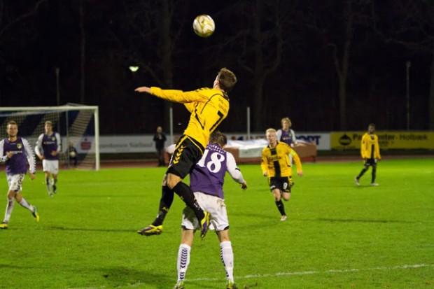 AC Horsens vandt pokalopgøret med Nordvest FC onsdag aften. Foto: Michael Johannessen.