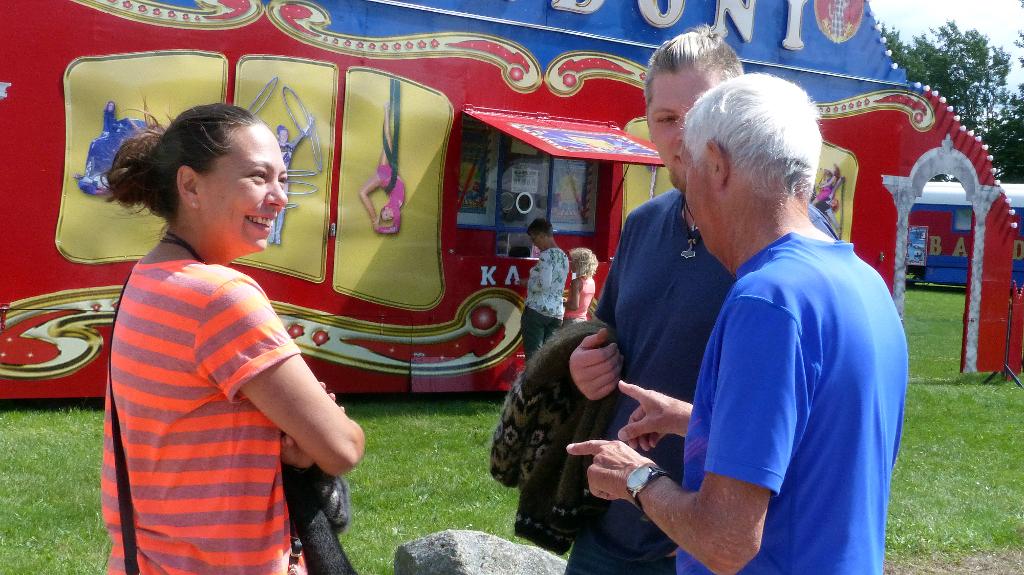 Cirkus Baldoni var lørdag på Orø - søndag er der forestilling på Tuse Næs. Foto: Jesper von Staffeldt.