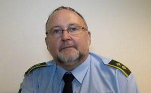 Carsten Andersen oplyser, at politiet godt kender støttegruppen 'No Retreat'. Arkiv foto: Jesper von Staffeldt.