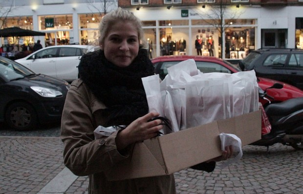 Socialdemokraternes nye borgmesterkandidat Christina Krzyrosiak Hansen under valgkampen i 2013. Foto: Rolf Larsen.