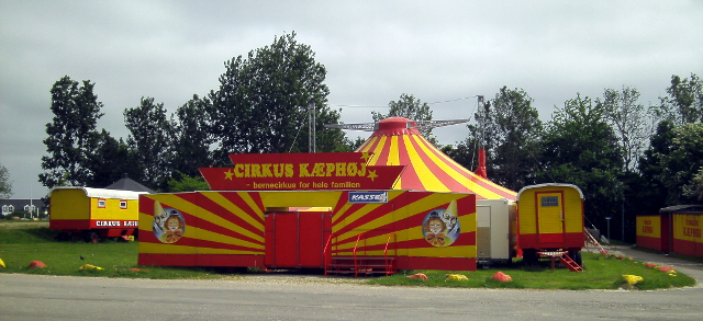 Cirkus Kæphøj på Vandtårnsvej risikerer at blive sparet væk. Arkivfoto: Rolf Larsen.