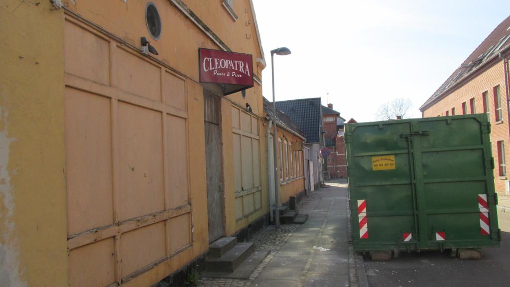 Det er her i Cleopatras gamle lokaler, at The Old Irish Pub nu åbner. Foto: Rolf Larsen.