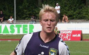 Ferdinand Bangsaard i Nordvest FC trøje tilbage i 2012. Foto: Rolf Larsen