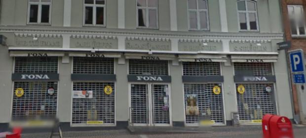 FONA i Holbæk lukker som følge af rekonstruktion af butikskæden. Foto: Google Streetview.