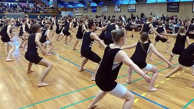 Flot og fornøjeligt - det kan man sagtens kalde gymnastikopvisningen i Stadionhallen lørdag. Foto: Jesper von Staffeldt.