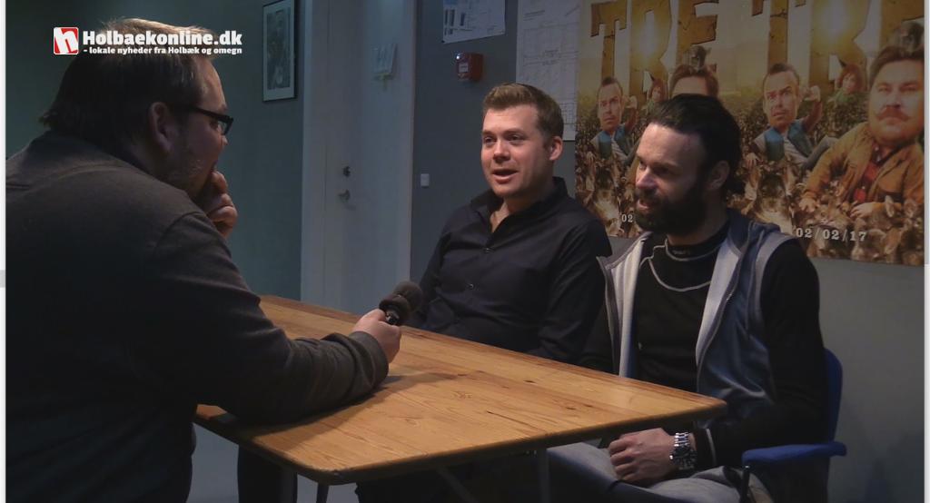 Holbaekonline.dk får en snak med instruktør Rasmus Heide og Mick Øgendahl om filmen 'Alle for tre' Foto: Michael Johannessen.