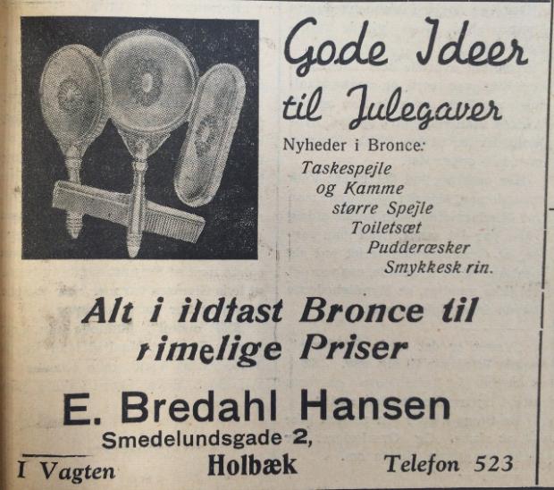 Alle elsker rimelige priser.. Annonce i Holbæk Amts Avis, december 1940.