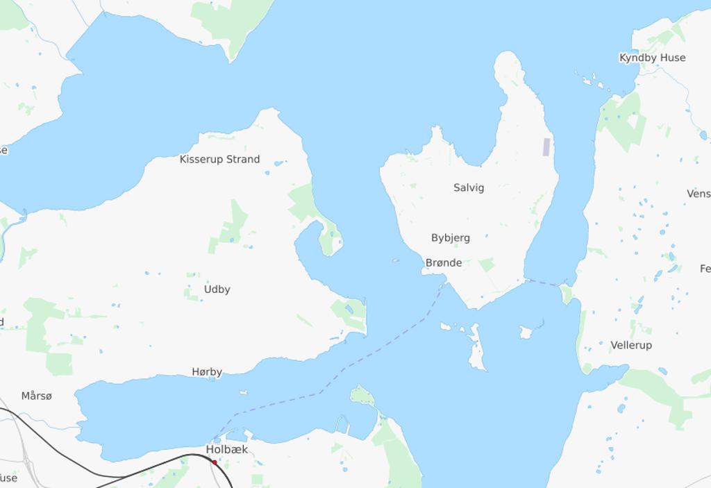 Den døde person blev fundet i vandet mellem Orø og Tuse Næs.  Kort: © OpenStreetMap-bidragsydere