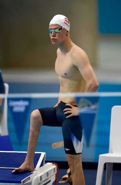 Lasse Winther Andersen  ved Paralympics i London i 2012. Foto: Lars Møller.