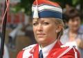 Line Vester blev igen kåret til Danmarks bedste tamburmajor og Holbæk Garden vandt samlet Damarksmesterskabet. Arkivfoto: Rolf Larsen.