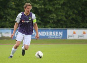 Sådan så det ud, da Mads Bøjesen spillede for Nordvest FC. Arkivfoto: Rolf Larsen.