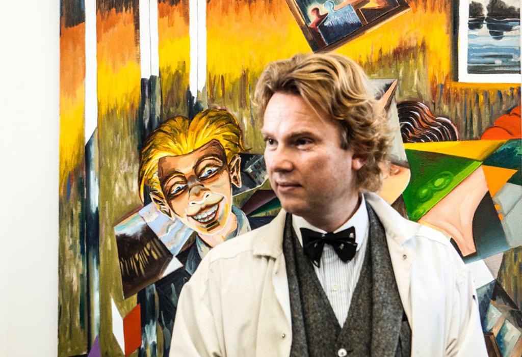 Kunstneren Martin Bigum holder foredrag på Holbæk Bibliotek. PRfoto.