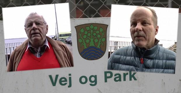 Ole Brockdorff (S) og Klaus Rokkedal (3F) forstår ikke hvorfor man vil udlicitere Vej og Park.