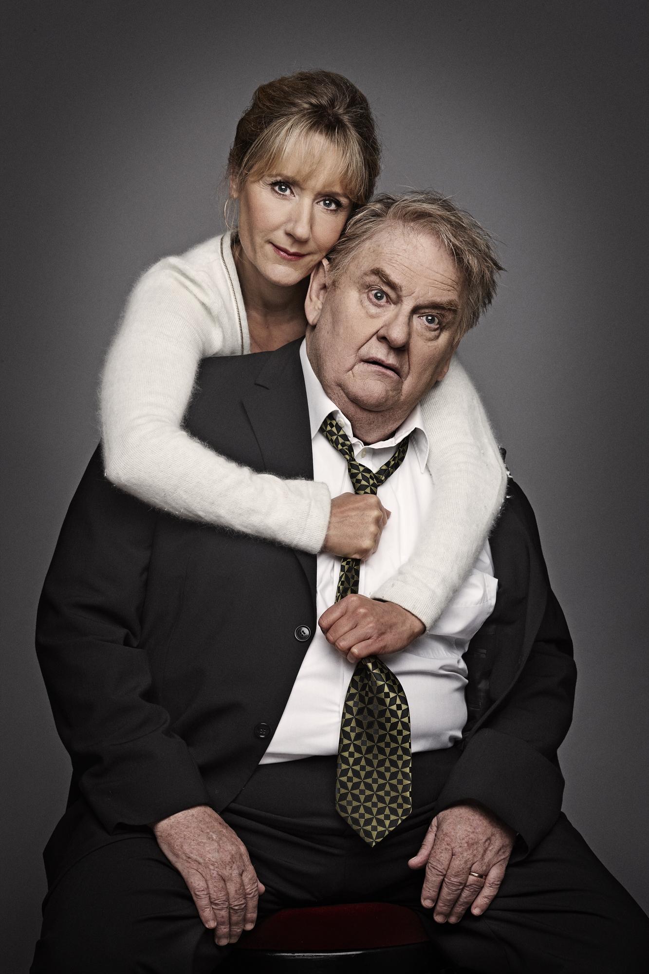 Ole Thestrup og Anette Støvelbæk som far og datter i 'Min far'. Foto: Gudmund Thai.