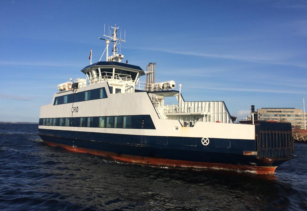 Orø-færgen havde problemer med skruen