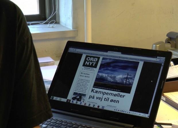 Orø Nyt har også dækket sagen om kæmpevindmøllerne. Foto: Jesper von Staffeldt.