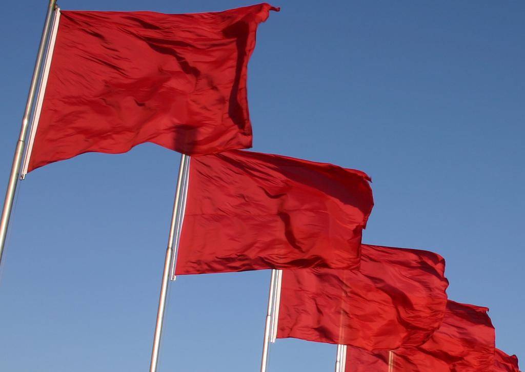"""""""Thi det flag, der nu smældende når himlen, er jo rødt som mit brusende blod"""" ... Men er de """"rødes"""" politik blevet blå?"""