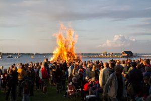 Torsdag aften er der traditionen tro sankthansfest i Strandparken. Arkivfoto: Michael Johannessen.