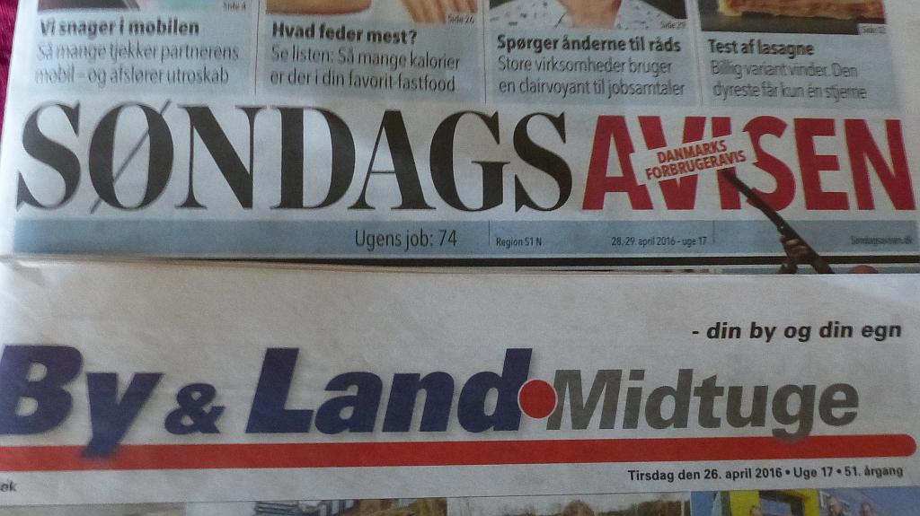 By & Lands udgiver, Sjællandske Medier i Ringsted, har købt flere udgaver af Søndagsavisen. Foto: Jesper von Staffeldt.